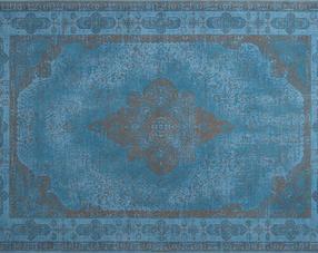 Carpets - Retro 200x300 cm 100% Cotton Chenille - ITC-RETRO200300 - Azur Blue 1