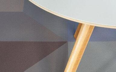 Woven vinyl - Fitnice Memphis 50x50x70,7 cm vnl 2,3 mm Triangle  - VE-MEMPHISTR70 - Orange