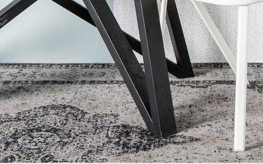 Carpets - Retro 170x230 cm 100% Cotton Chenille - ITC-RETRO170230 - Ash Grey